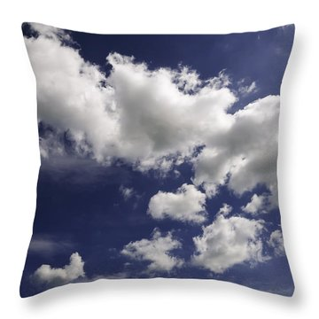 Throw Pillow featuring the photograph Clouds by Paul Plaine