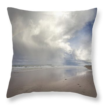 Clouds Reflected In The Shallow Water Throw Pillow by John Short
