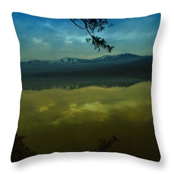 Clouds Trying To Dance In Still Water Throw Pillow by Jeff Swan