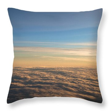 Cloudscape From A 757 Throw Pillow by David Patterson