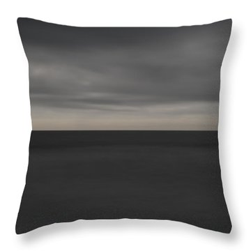 Cloudy Afternoon On Beach Throw Pillow by Catherine Lau