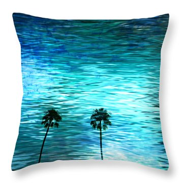 Cloudy Day... Throw Pillow by Sharon Soberon