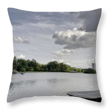 Throw Pillow featuring the photograph Cloudy Hyde Park by Maj Seda