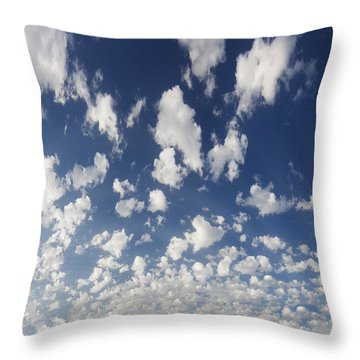 Cloudy Sky Throw Pillow
