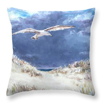 Cloudy With A Chance Of Seagulls Throw Pillow by Jack Skinner