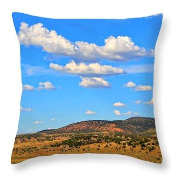 Cloudy Wyoming Sky Throw Pillow