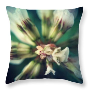 Clover Flower Close Up Throw Pillow