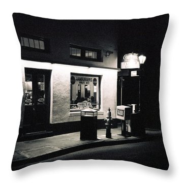 Clover Grill New Orleans Throw Pillow