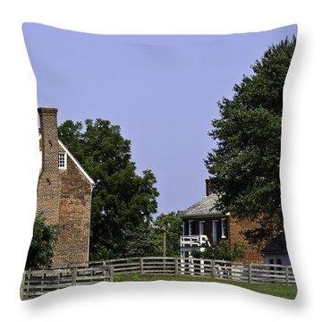 Clover Hill Tavern And Kitchen Appomattox Virginia Throw Pillow by Teresa Mucha