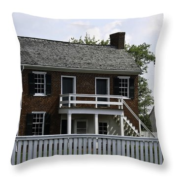 Clover Hill Tavern Kitchen Appomattox Virginia Throw Pillow by Teresa Mucha