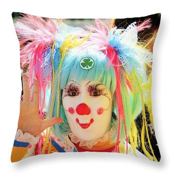 Throw Pillow featuring the photograph Cloverleaf Clown by Alice Gipson