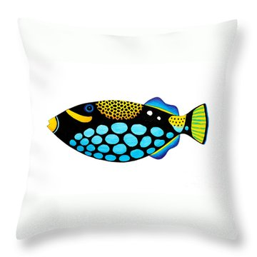 Clown Triggerfish  Throw Pillow by Opas Chotiphantawanon