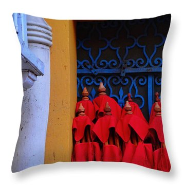 Club Colombia Throw Pillow by Skip Hunt