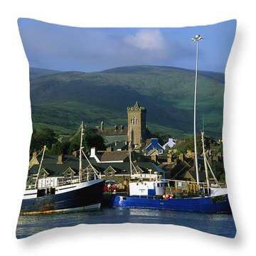 Co Kerry, Dingle Harbour Throw Pillow by The Irish Image Collection