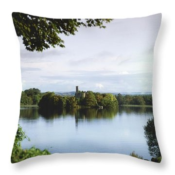 Co Roscommon, Lough Key Throw Pillow by The Irish Image Collection