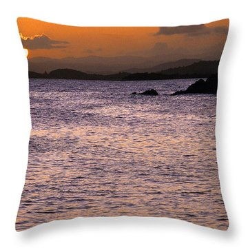 Coast Guard Beach Sunset Throw Pillow by Thomas R Fletcher