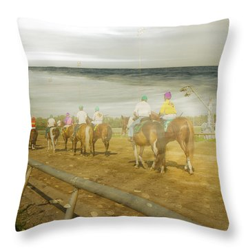 Coast Line Throw Pillow by Betsy Knapp