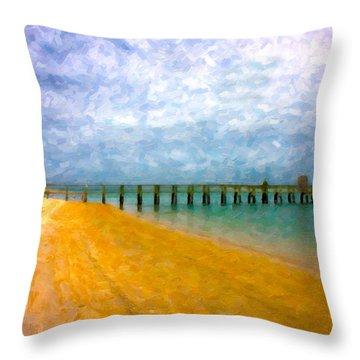 Coastal Dreamland Throw Pillow by Betsy Knapp