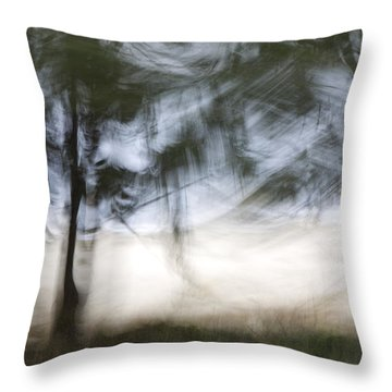 Coastal Pines Throw Pillow by Carol Leigh