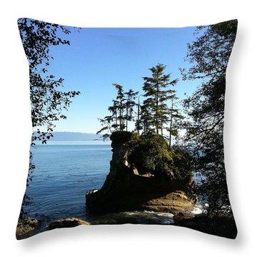 Coastal Seastack Throw Pillow