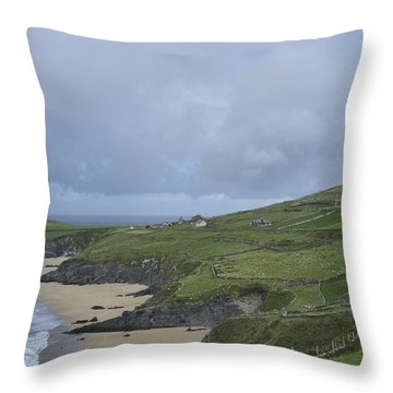 Throw Pillow featuring the photograph Coastline  by Hugh Smith