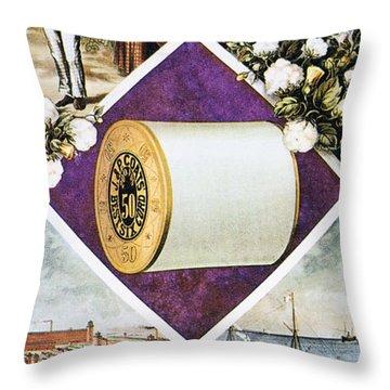 Coats Thread, C1880 Throw Pillow by Granger