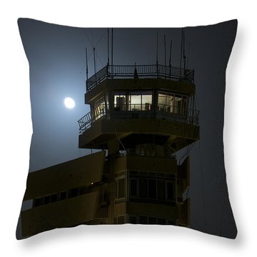 Cob Speicher Control Tower Under A Full Throw Pillow by Terry Moore