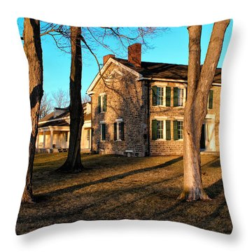 Throw Pillow featuring the photograph Cobblestone And Long Shadows by Rachel Cohen