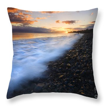 Cobblestone Sunset Throw Pillow by Mike  Dawson