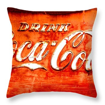 Throw Pillow featuring the photograph Coca Cola by Amy Sorrell