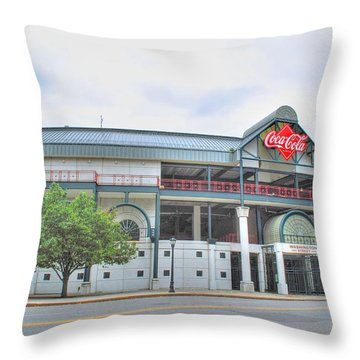 Throw Pillow featuring the photograph Coca Cola Field  by Michael Frank Jr
