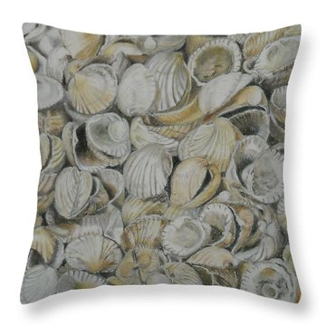 Cockle Shells Throw Pillow