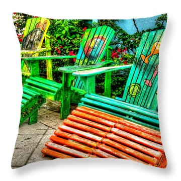 Cocktails Anyone Throw Pillow by Debbi Granruth
