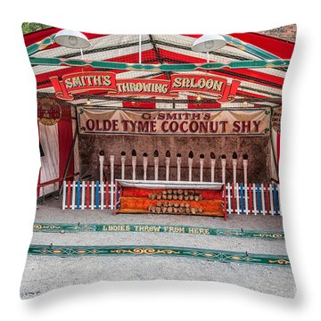 Coconut Shy Throw Pillow by Adrian Evans