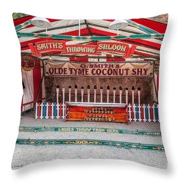 Coconut Shy Throw Pillow