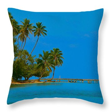 Throw Pillow featuring the photograph Coconuts Anyone by Eric Tressler