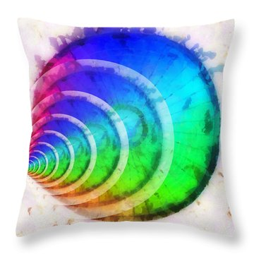 Code Of Colors 9 Throw Pillow by Angelina Vick