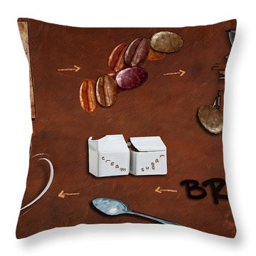 Coffee Deconstructed Throw Pillow