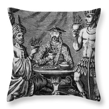 Coffee, Tea & Chocolate, 1685 Throw Pillow by Granger
