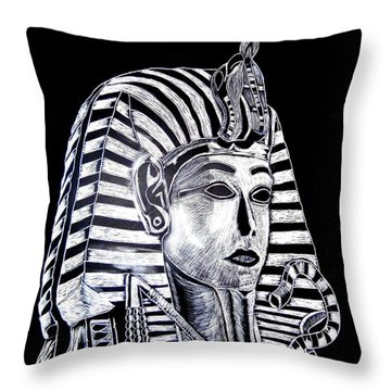 Coffin Of The King Throw Pillow