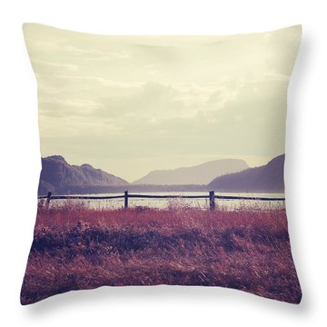Coin De Pays Throw Pillow by Aimelle