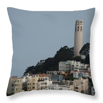 Throw Pillow featuring the photograph Coit Tower by Eric Tressler