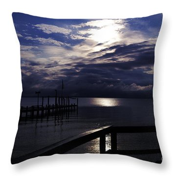 Throw Pillow featuring the photograph Cold Night On The Water by Clayton Bruster