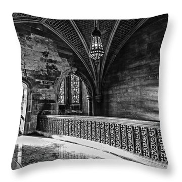 Cold Rock Warm Light Throw Pillow