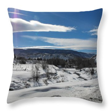 Cold Sun Throw Pillow