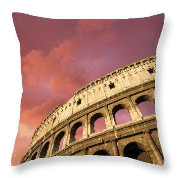 Coliseum. Rome. Lazio. Italy. Europe Throw Pillow by Bernard Jaubert