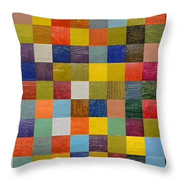 Collage Color Study 108 Throw Pillow by Michelle Calkins