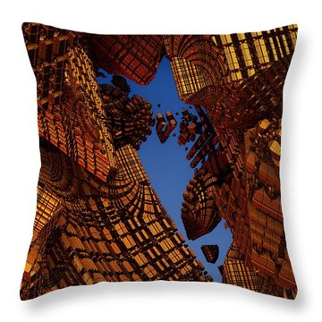 Collapse Throw Pillow by Lyle Hatch