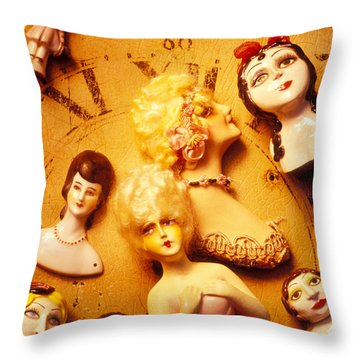 Collectable Dolls Throw Pillow by Garry Gay
