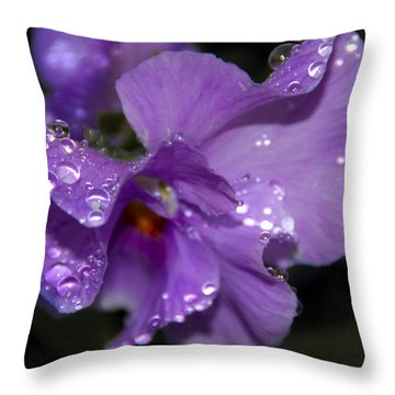 Collection Of Water Drops Throw Pillow by Svetlana Sewell